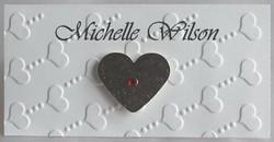 Love Heart Name Card