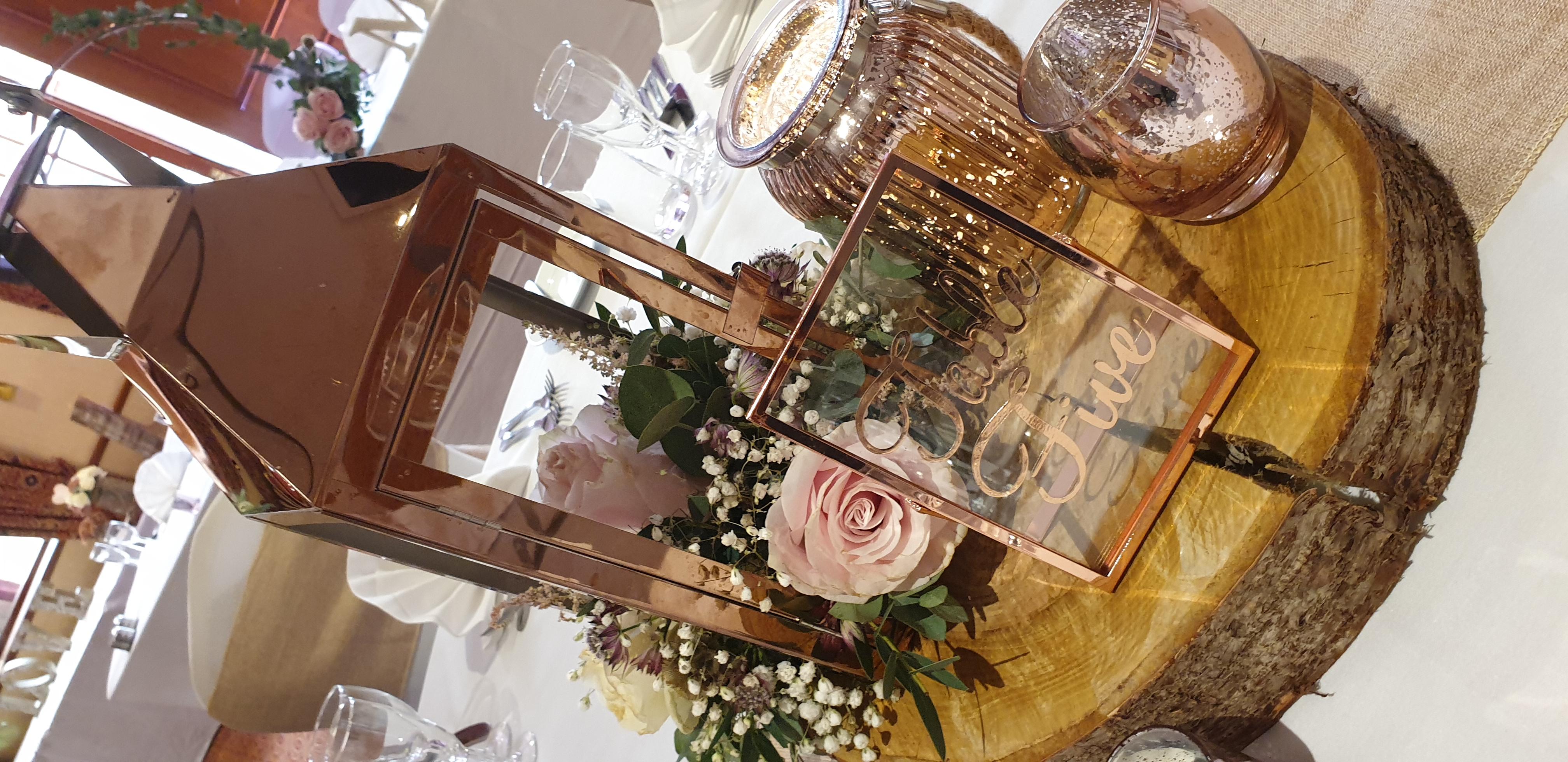 Rose Gold Mixed Mercury Glass