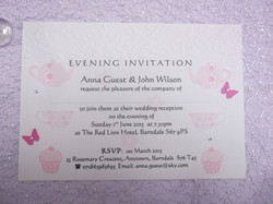 Tea Party Postcard Invitation