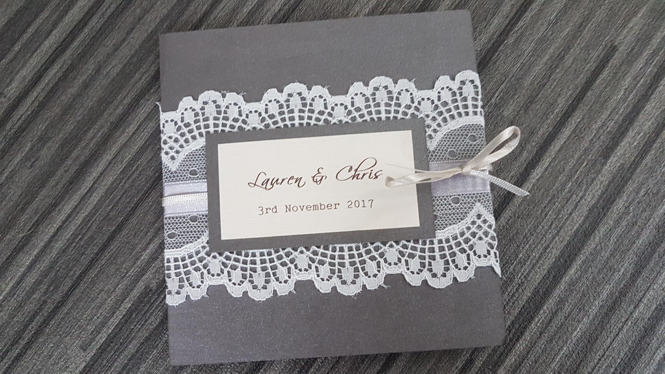 Scallop Lace Square Pocket Invite