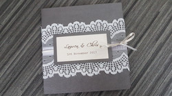 Scallop Lace Square Pocket Invite