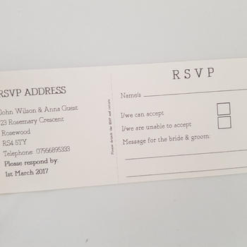 Vintage Paper Cheque Book Invitation