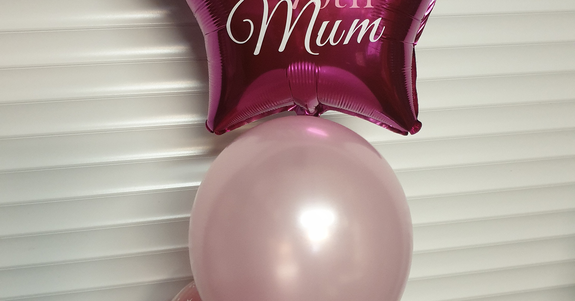 Star print foil with 2 latex balloons