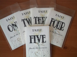 Calla Lace Table Numbers
