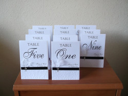 Diamante Feather Table Numbers