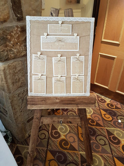 Burlap & Lace Table Plan