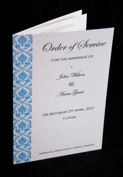 Damask Order of Service