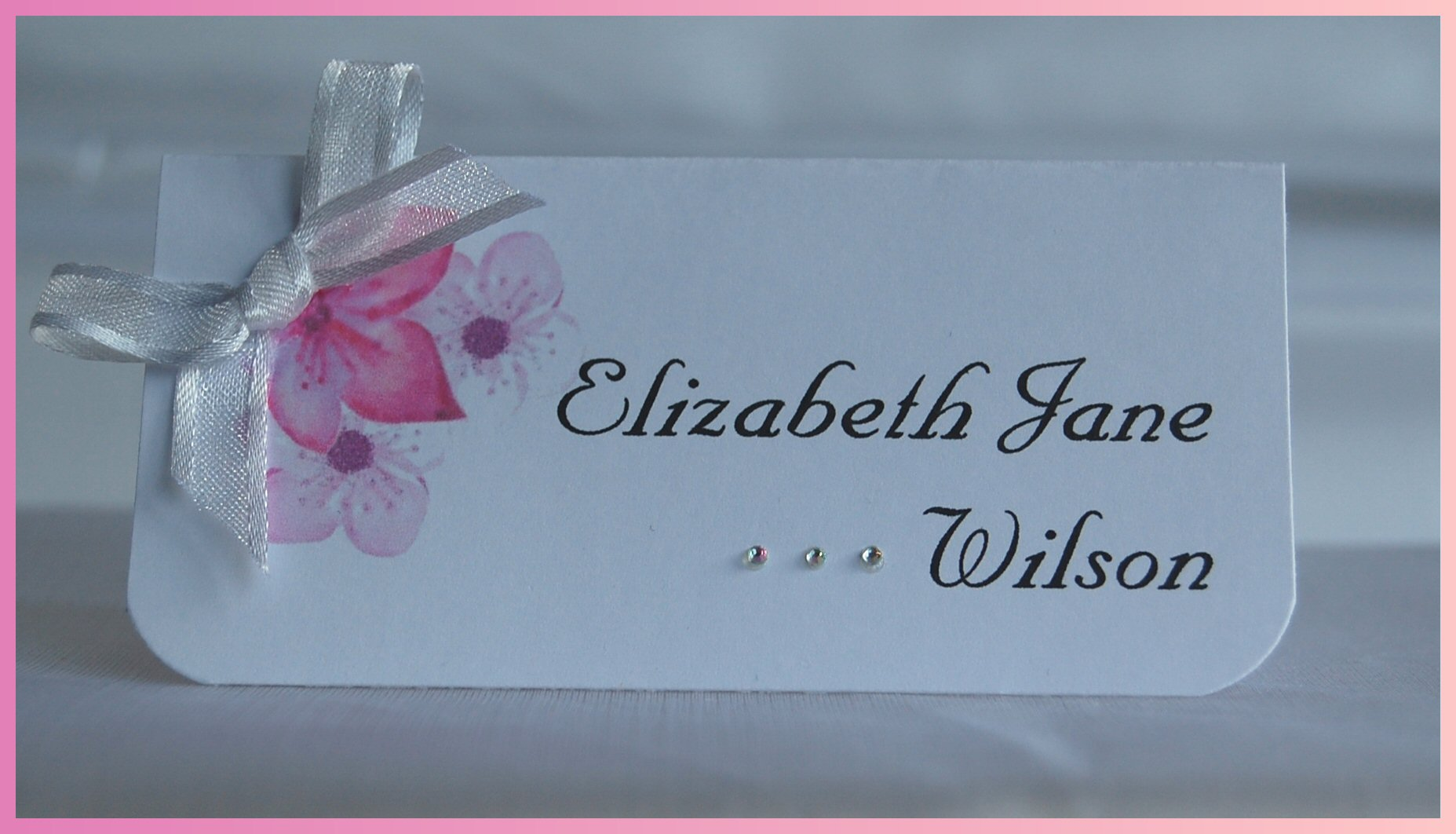 Cherry Blossom Name Card