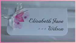 Cherry Blossom Name Card