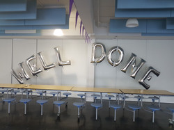 WELL DONE Silver Letters