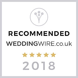 Recommended by wedding wire logo