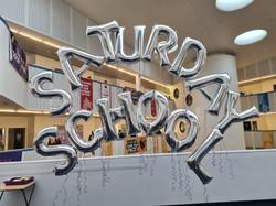 SATURDAY SCHOOL Silver Letters