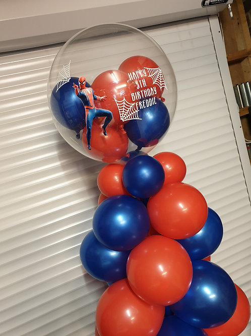 Character full colour image Bubble Balloon filled with mini balloons