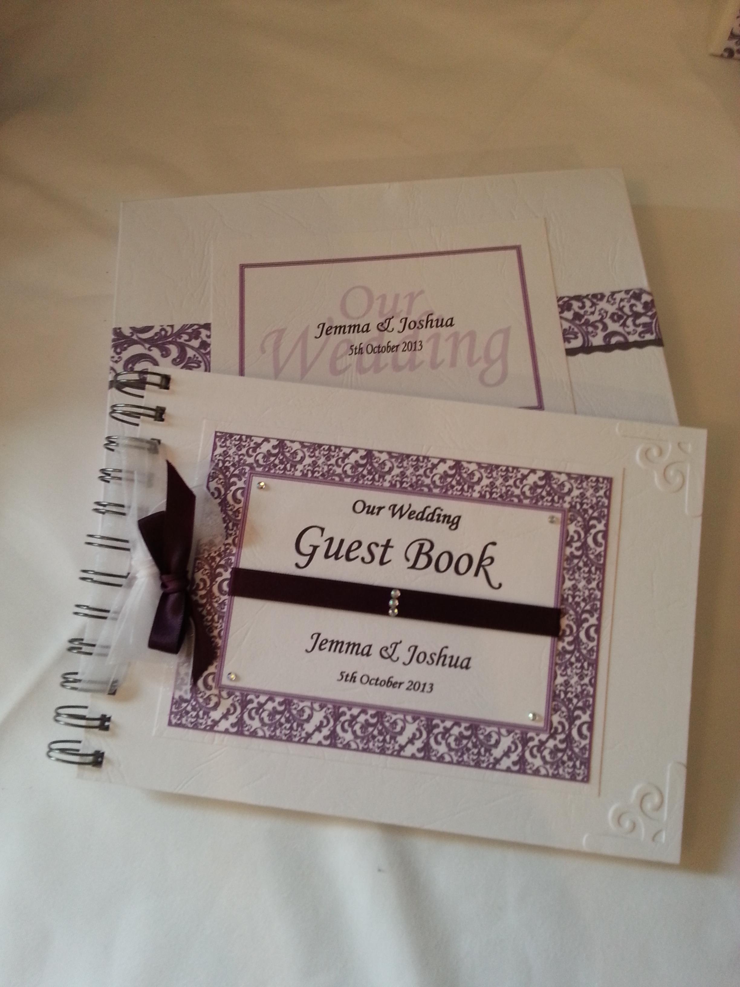 Contemporary Swirl Guest Book