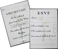 Calla Lily Save the Date & RSVP