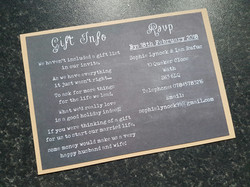 Chalk board evening invitation back