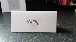 Ornate Heart Name Card
