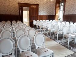 Dior White Chair Hire