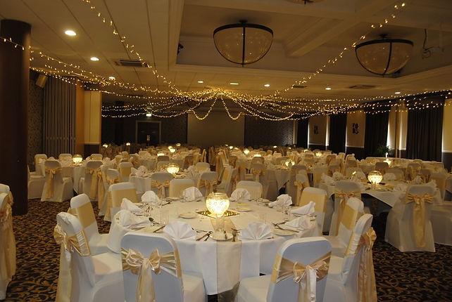 Fairy light ceiling canopy