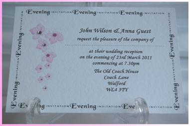 Blossom Postcard Evening Invitation