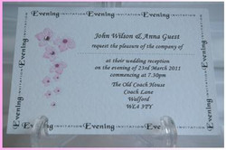Blossom Postcard Evening Invitation