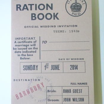Ration Book Invitation