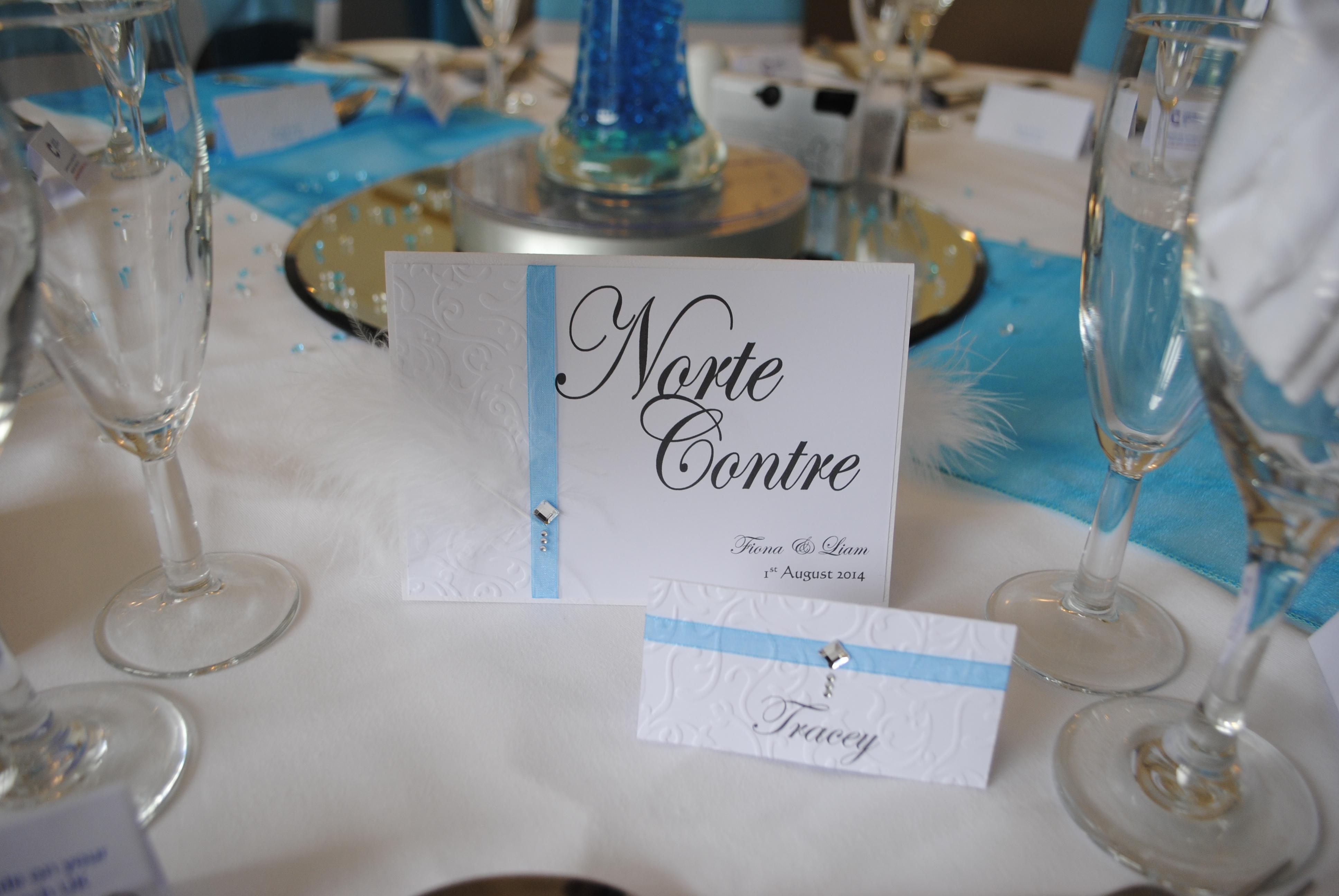 Table name and name card