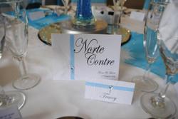 Diamante Feather Table Name & Name Card