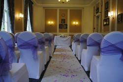 Romance Tied Sash at Warmsworth Hall