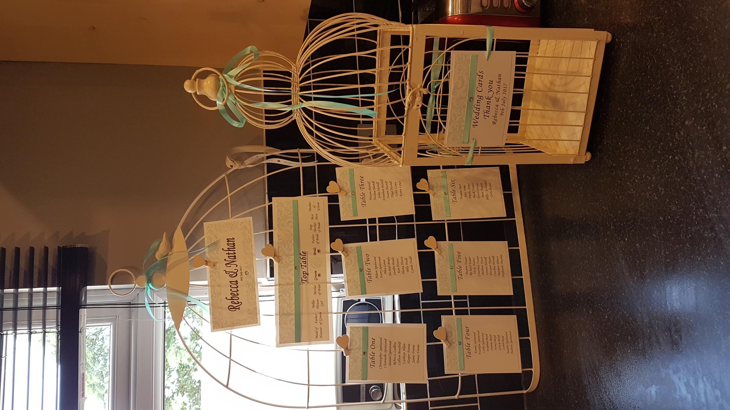 Birdcage Table Plan & Post Box