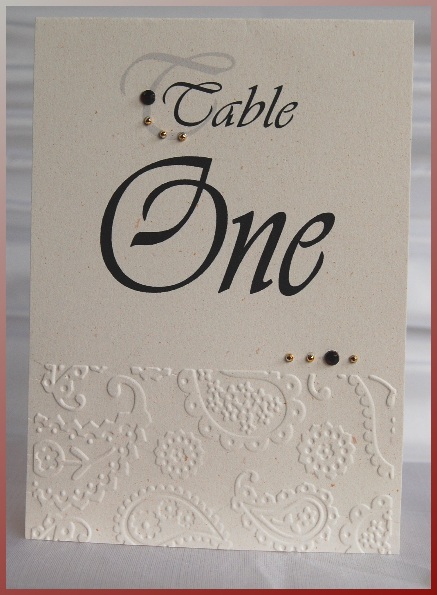 Paisley Table Number 2