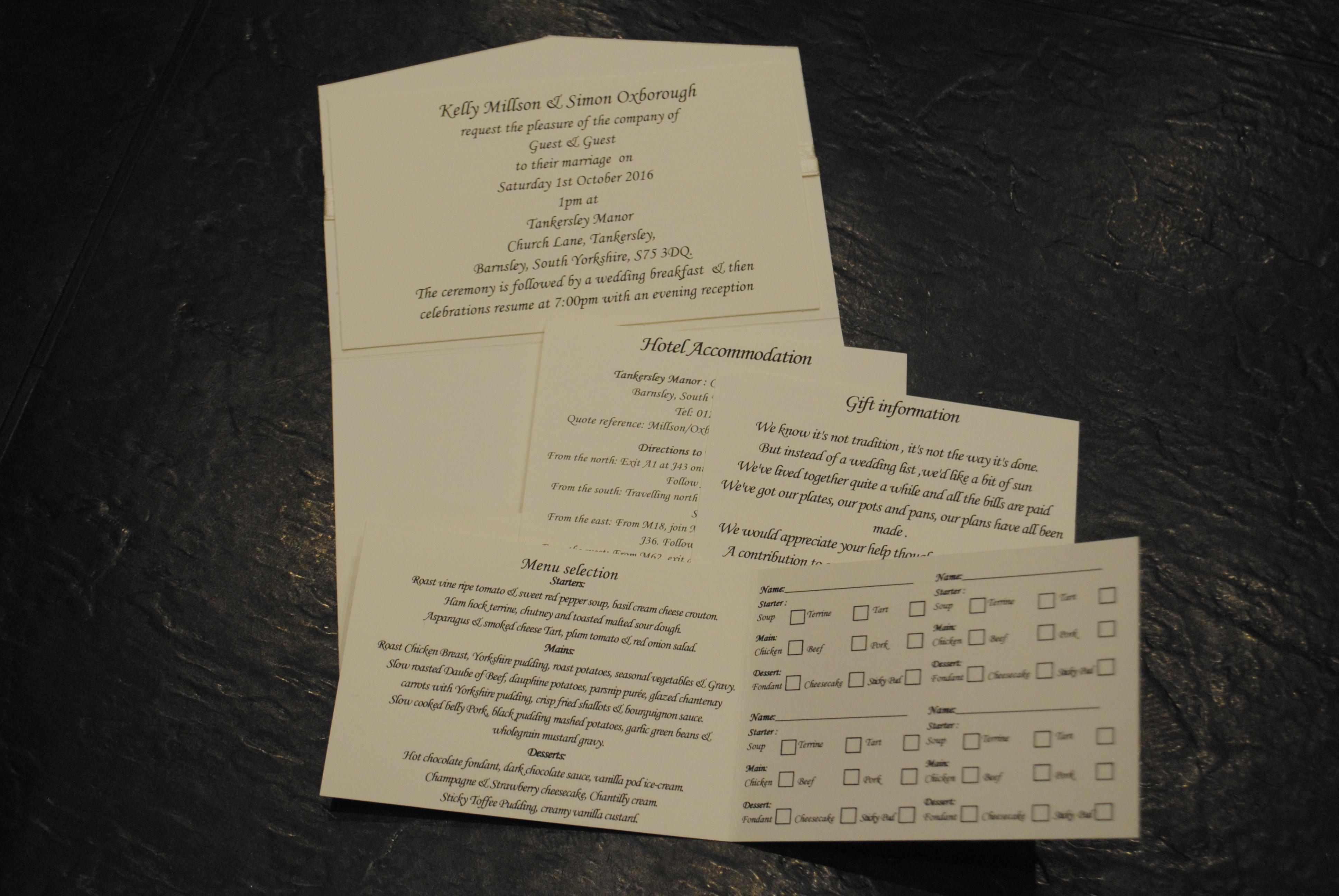 Dior Bow Pocket Fold Invite Inside