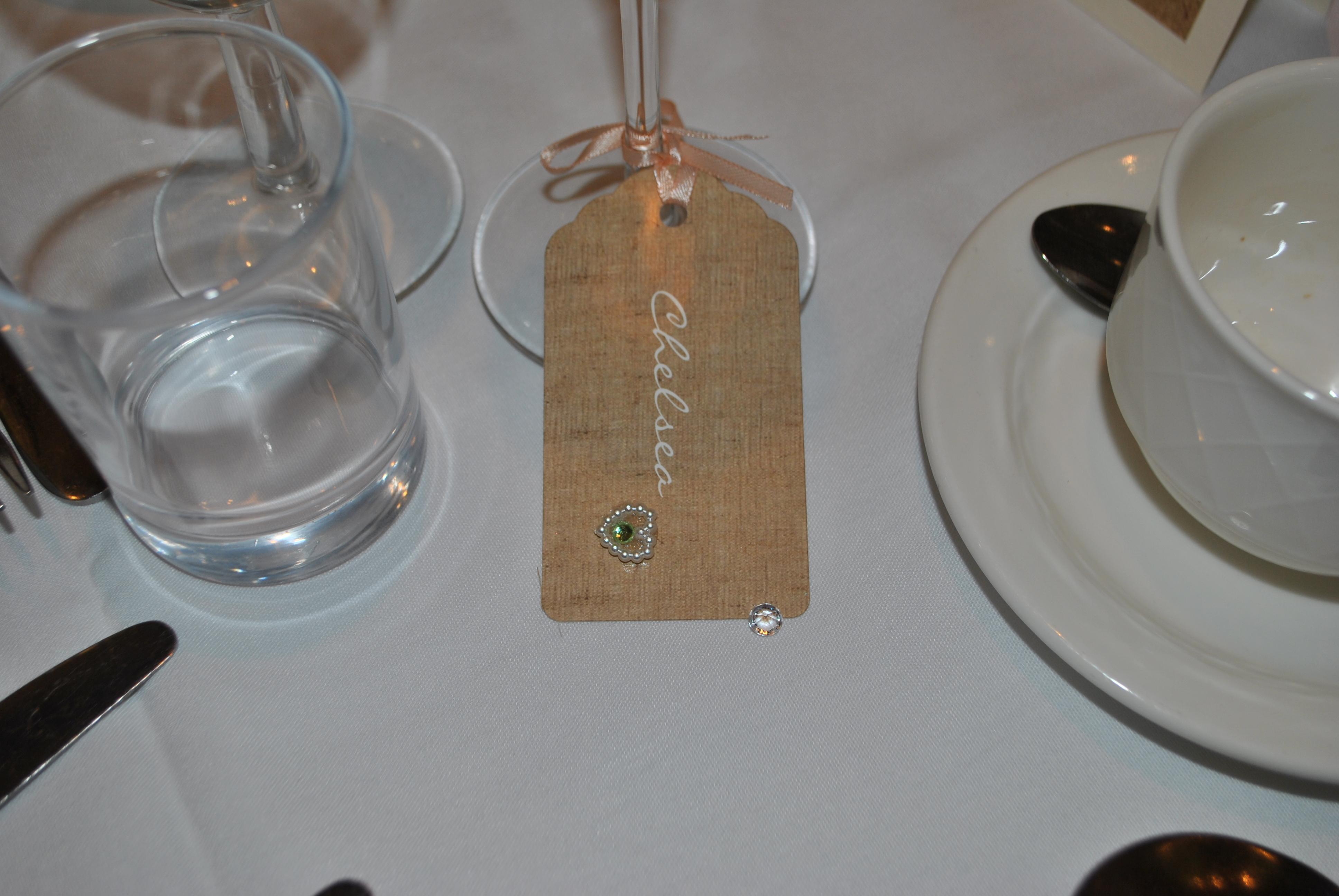 Burlap & Lace Luggage Tag Name Card