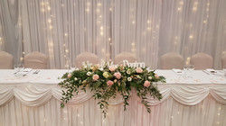Fresh pale pink top table decoration