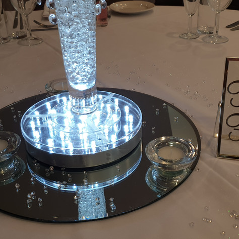 Silver Glass Table Name/Number Frame