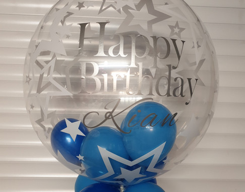 Star print birthday bubble