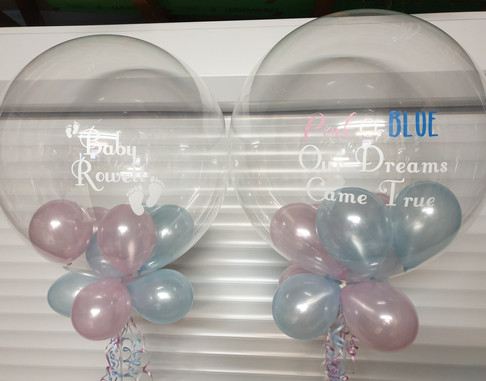 Baby bubble balloons