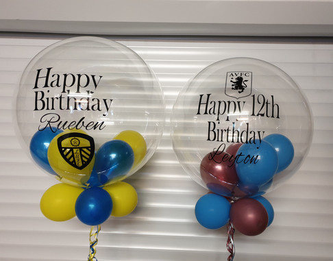 Football club birthday bubble balloons