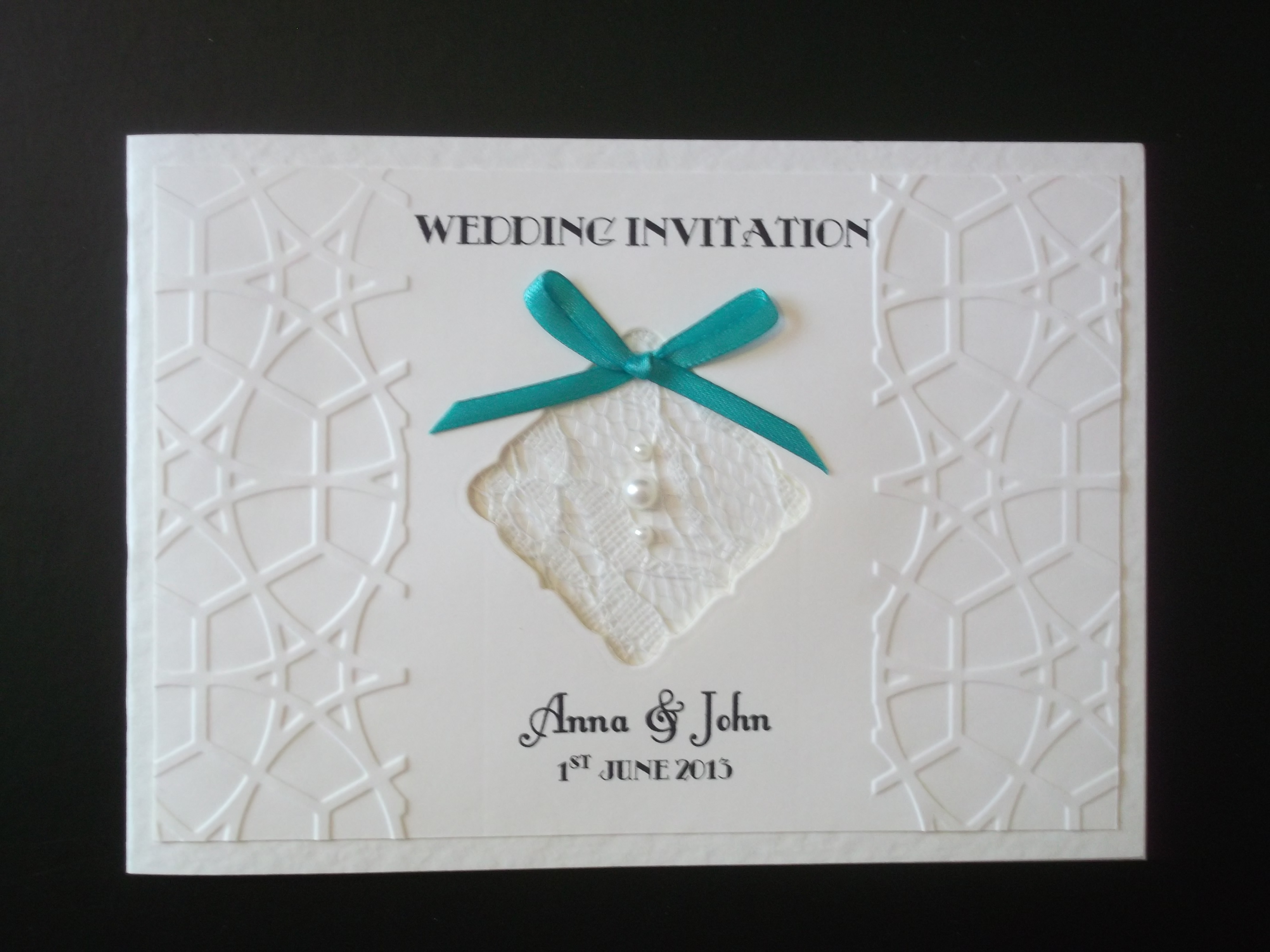 Lace Bow Standard Day Invitation