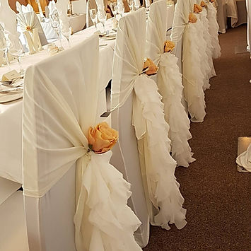 Chair cover & waterfall ruffle hire