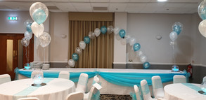 Birthday arch & table decorations