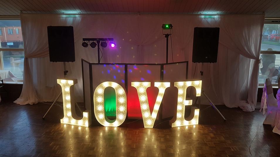 3ft LED Love Letters