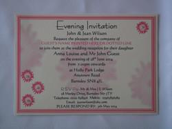 Gerbera Groove Evening invitation