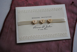Wooden Button Standard Invitation