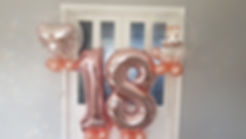 Foil Numbers & Bubble Balloons