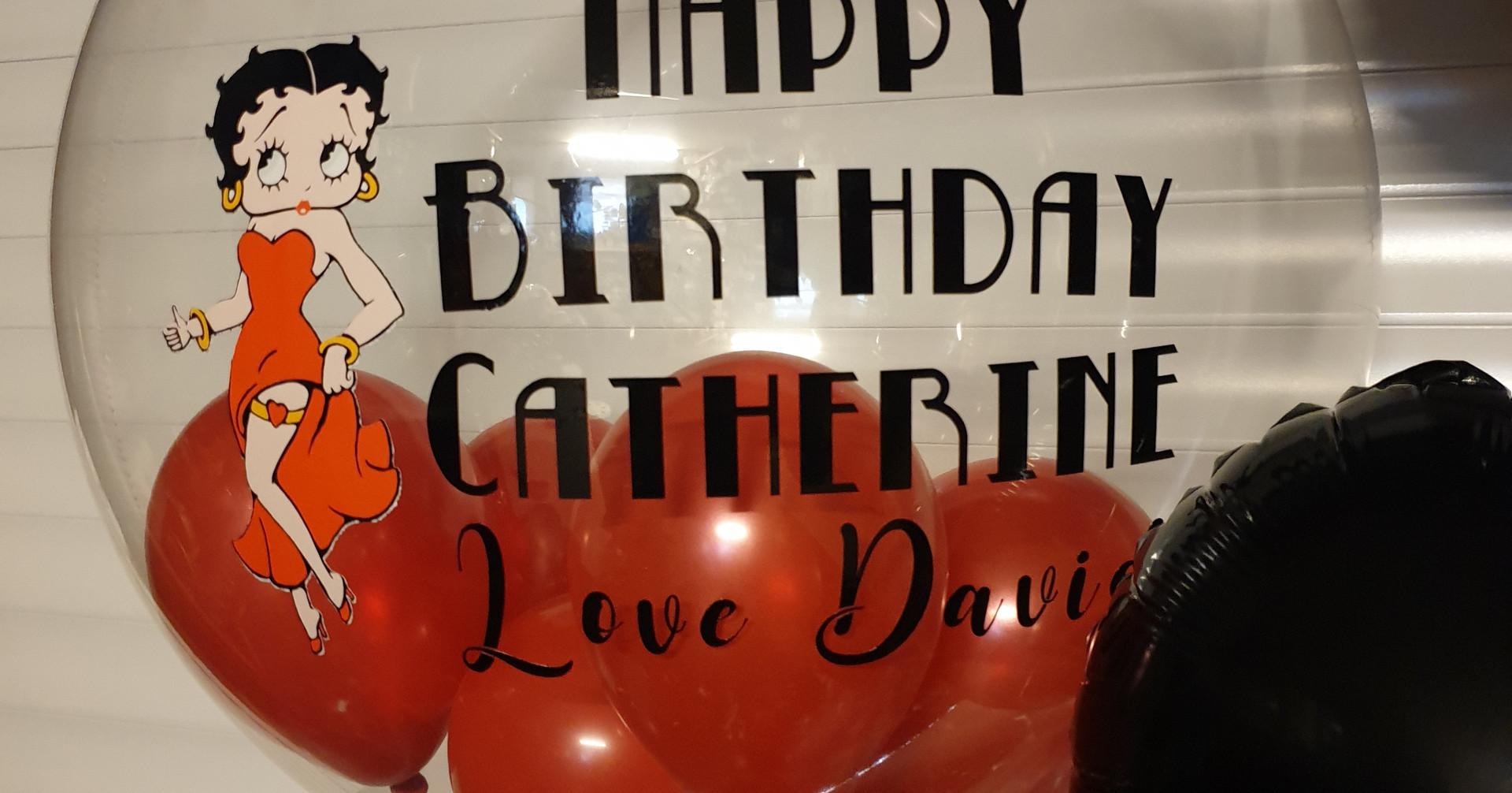Betty boo birthday balloon