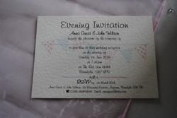 Bunting Evening Wedding Invitation