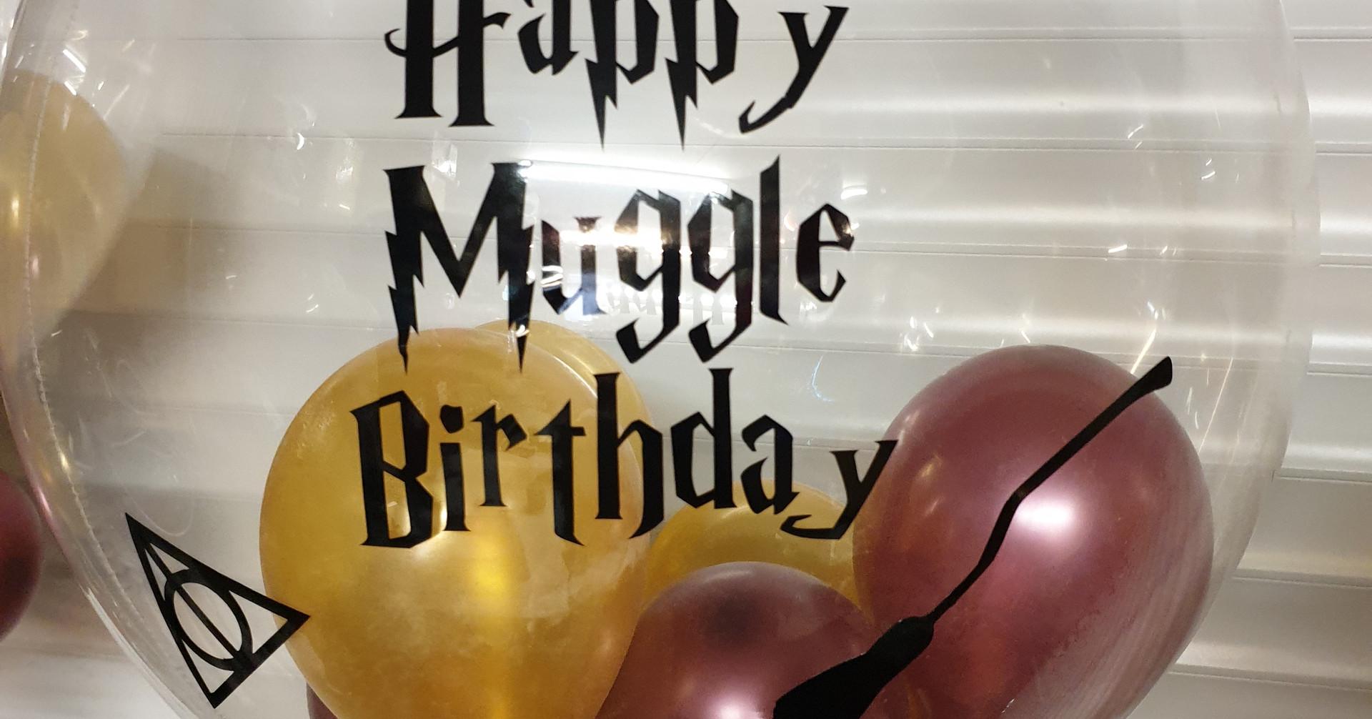 Happy birthday muggle bubble balloon