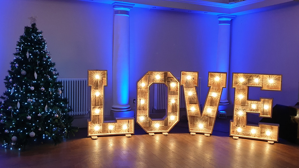 4ft Rustic LED Love Letters
