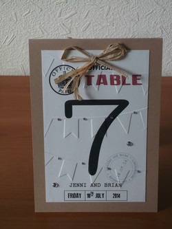 Ration Book Table Number